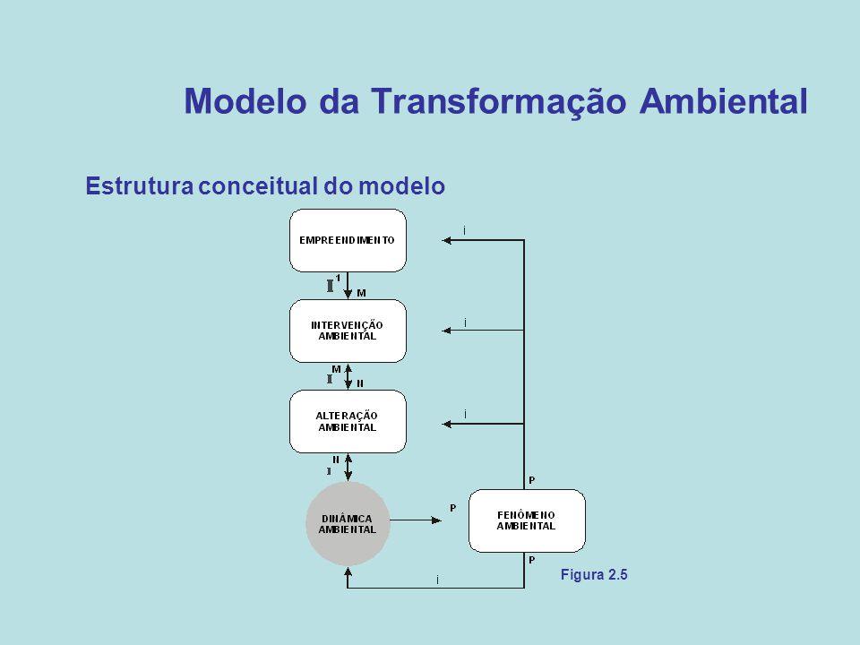Modelo da Transformação Ambiental •Estrutura conceitual do modelo Figura 2.5