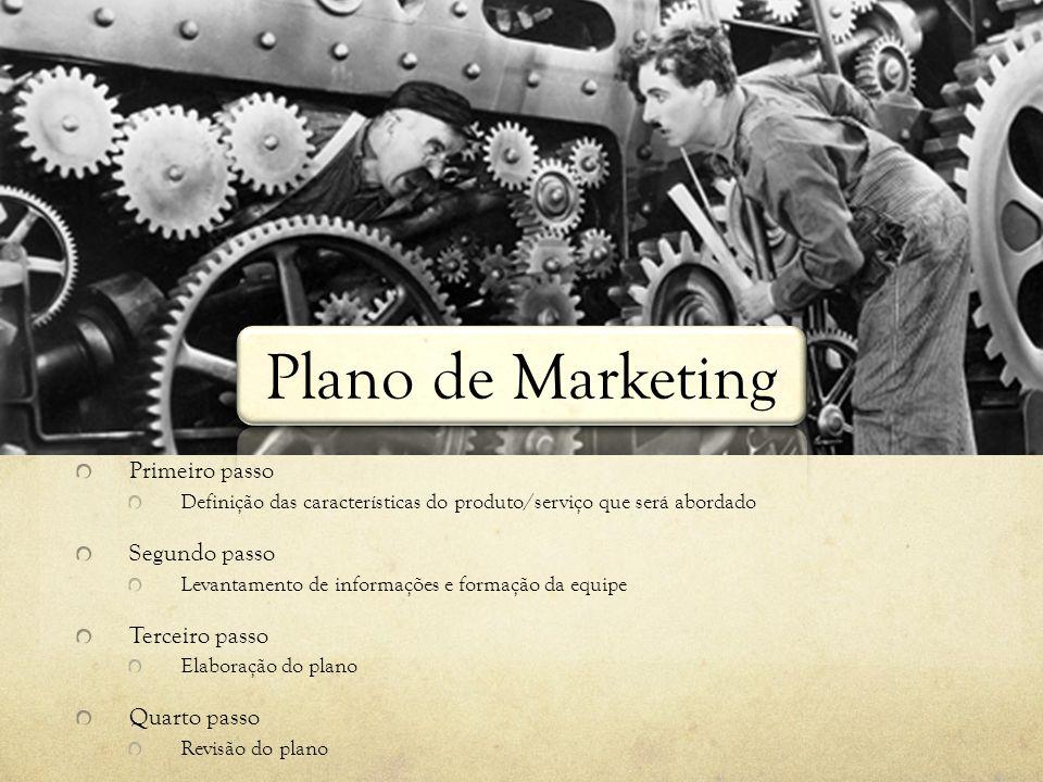 Plano de Marketing Documento que resume o planejamento de marketing Comunica a toda a empresa o conjunto de ideias e estratégias a serem implantadas p
