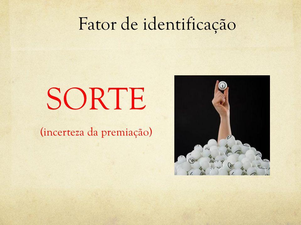 Fator de identificação SORTE (incerteza da premiação)