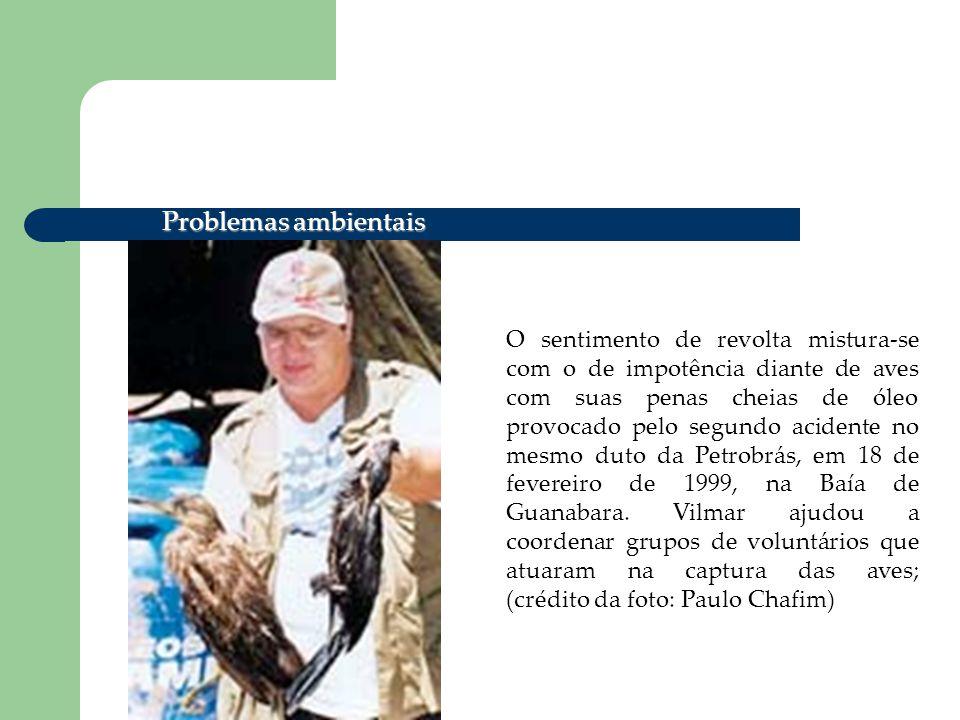 Na Lagoa de Piratininga, em Niterói, RJ, Vilmar se une à ONG Lagoa Viva para denunciar a morte de aves silvestres vítimas da intensa poluição; http://www.jornaldomeioambiente.com.br/editor/vilmar_fotos/index.asp Problemas ambientais
