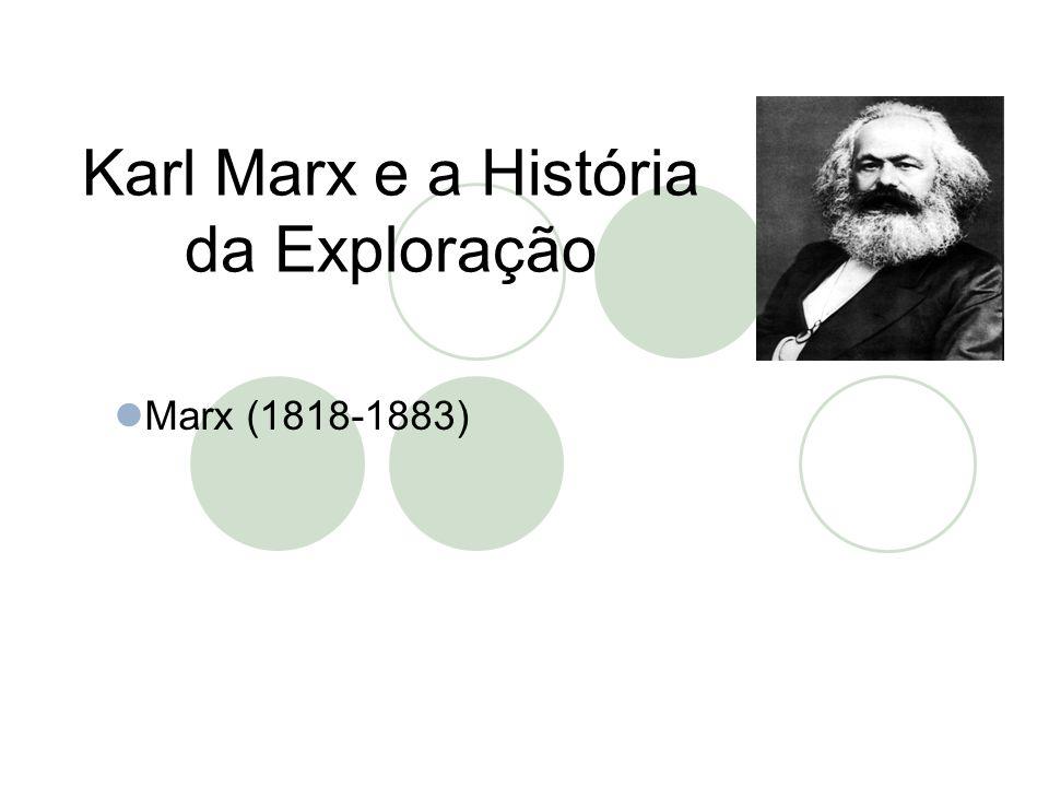 Karl Marx e a História da Exploração  Marx (1818-1883)