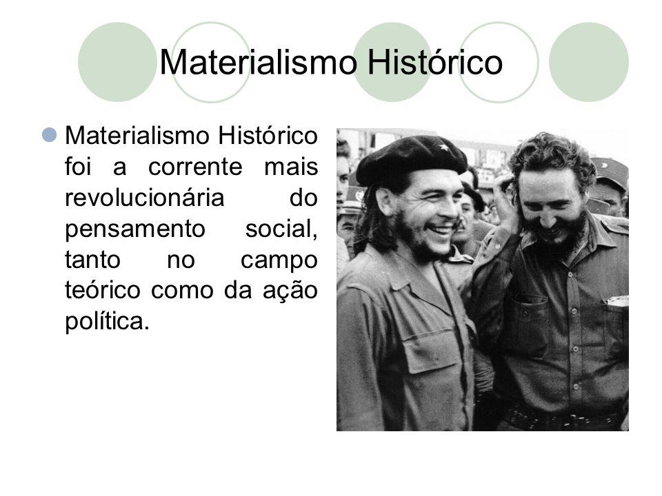 Materialismo Histórico  Materialismo Histórico foi a corrente mais revolucionária do pensamento social, tanto no campo teórico como da ação política.
