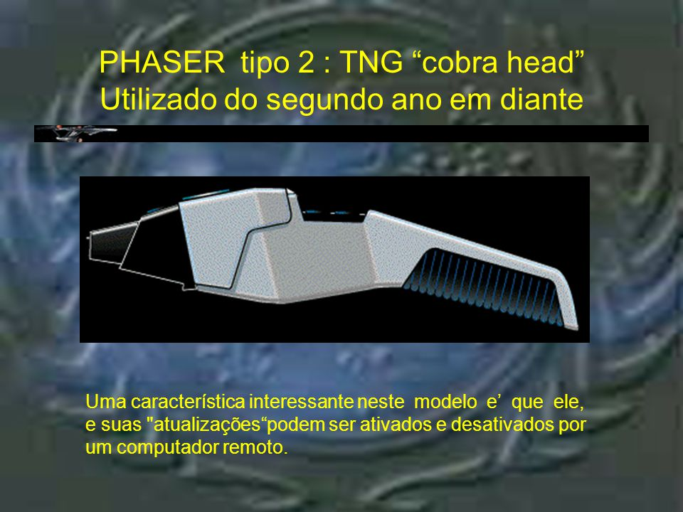 "Phaser tipo 2 : TNG ""dust buster"" : controle s PHASER tipo 2 : TNG ""dust buster"" controles"
