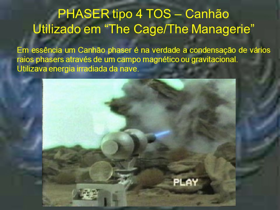 "Phaser tipo 3 TNG – Rifle : ""The First Contact"" PHASER tipo 3 TNG – Rifle Utilizado em ""The First Contact"""