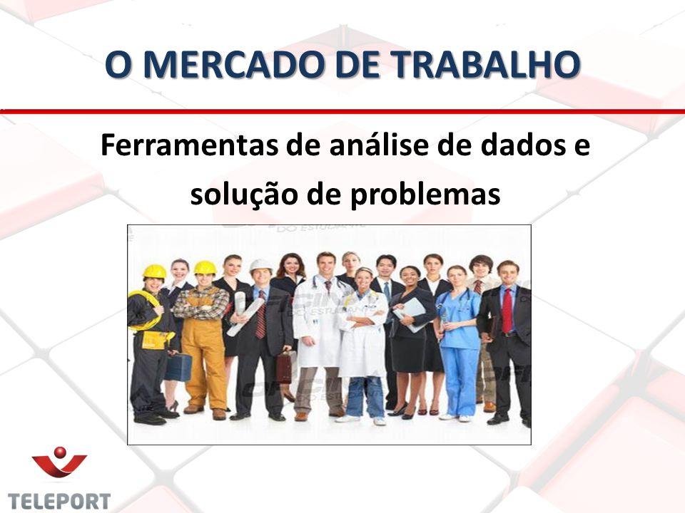 O MERCADO DE TRABALHO Ferramentas de análise de dados e solução de problemas