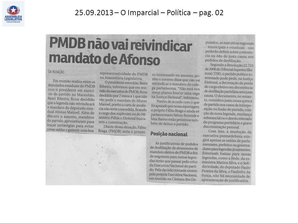 25.09.2013 – O Imparcial – Política – pag. 02