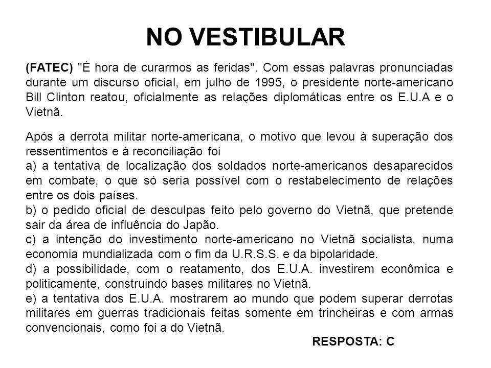 NO VESTIBULAR (FATEC)