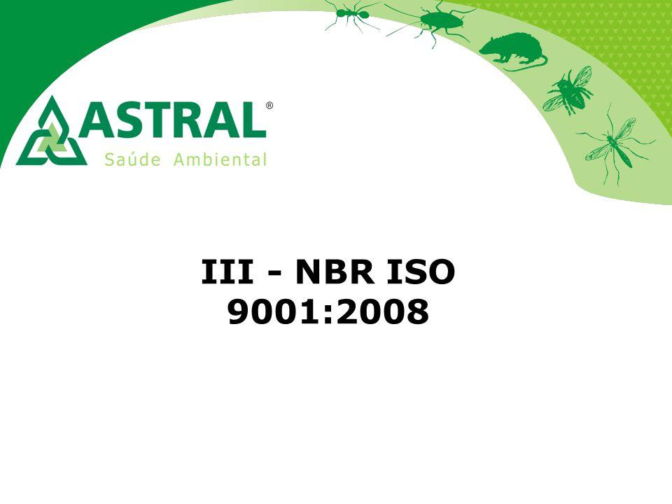 III - NBR ISO 9001:2008
