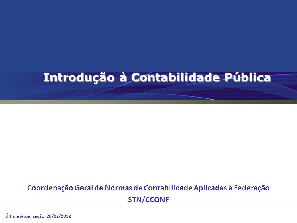 Introdução à Contabilidade Pública Coordenação Geral de Normas de Contabilidade Aplicadas à Federação STN/CCONF Última Atualização: 28/02/2012