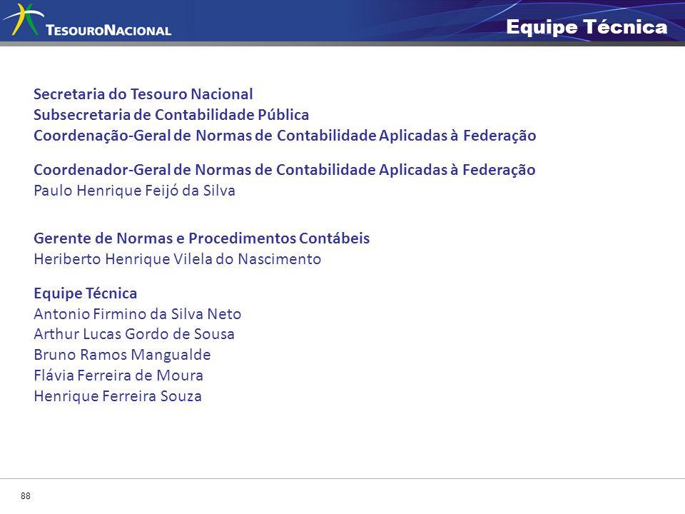 Secretaria do Tesouro Nacional Subsecretaria de Contabilidade Pública Coordenação-Geral de Normas de Contabilidade Aplicadas à Federação Coordenador-G