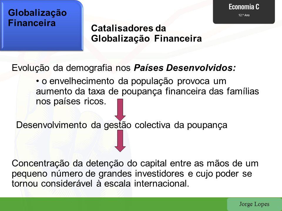 Jorge Lopes Globalização Financeira Catalisadores da Globalização Financeira Evolução da demografia nos Países Desenvolvidos: • o envelhecimento da po