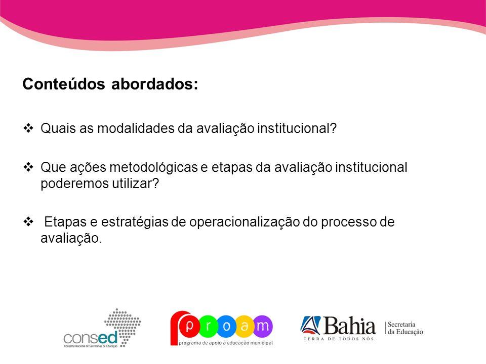 Unidade 3 Como implementar o processo de avaliação institucional integrado ao projeto pedagógico da escola?