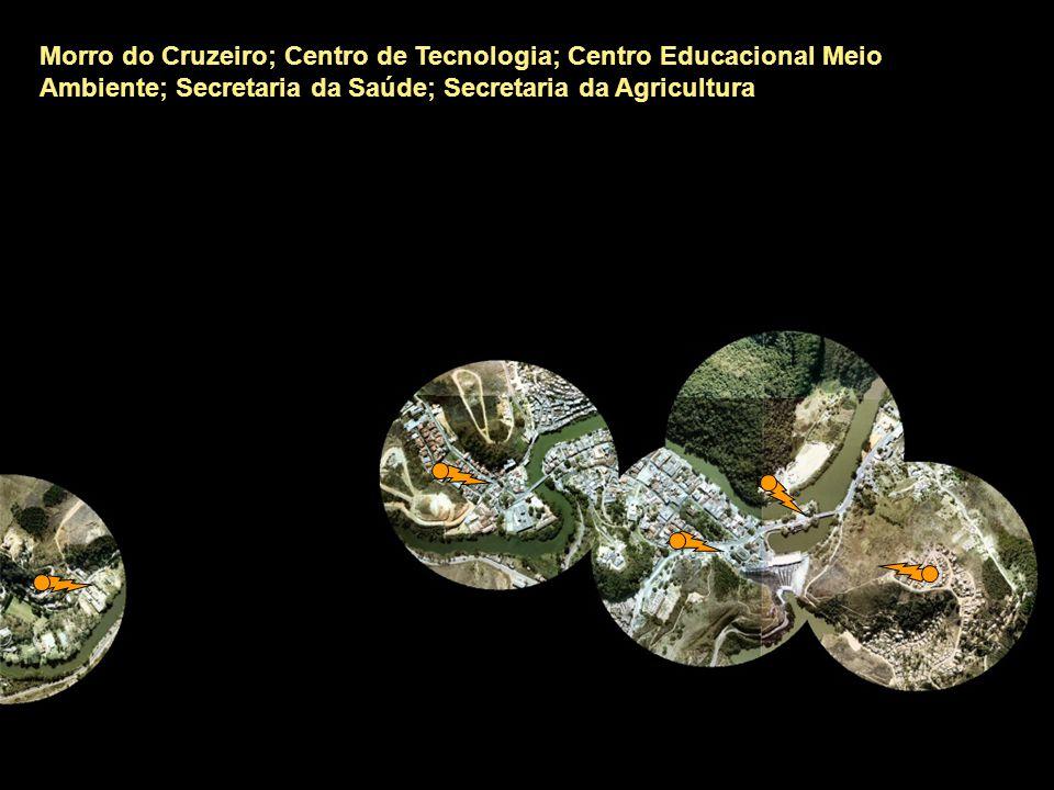Morro do Cruzeiro; Centro de Tecnologia; Centro Educacional Meio Ambiente; Secretaria da Saúde; Secretaria da Agricultura