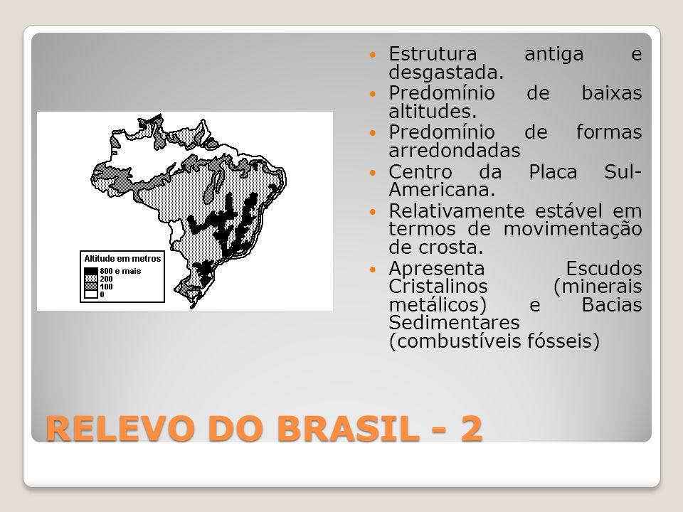 RELEVO DO BRASIL - 2  Estrutura antiga e desgastada.