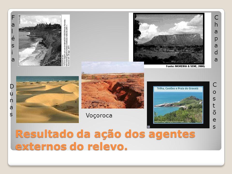RELEVO DO BRASIL - 1  Unidades: planaltos(acima de 200m – erosão), planícies(abaixo de 200m – sedimentação) e depressões(entre 200 e 500m – erosão e sedimentação)  Maior nível de detalhamento.