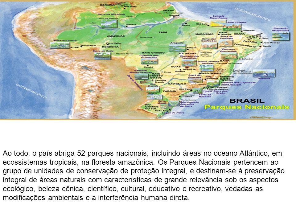 Ao todo, o país abriga 52 parques nacionais, incluindo áreas no oceano Atlântico, em ecossistemas tropicais, na floresta amazônica. Os Parques Naciona