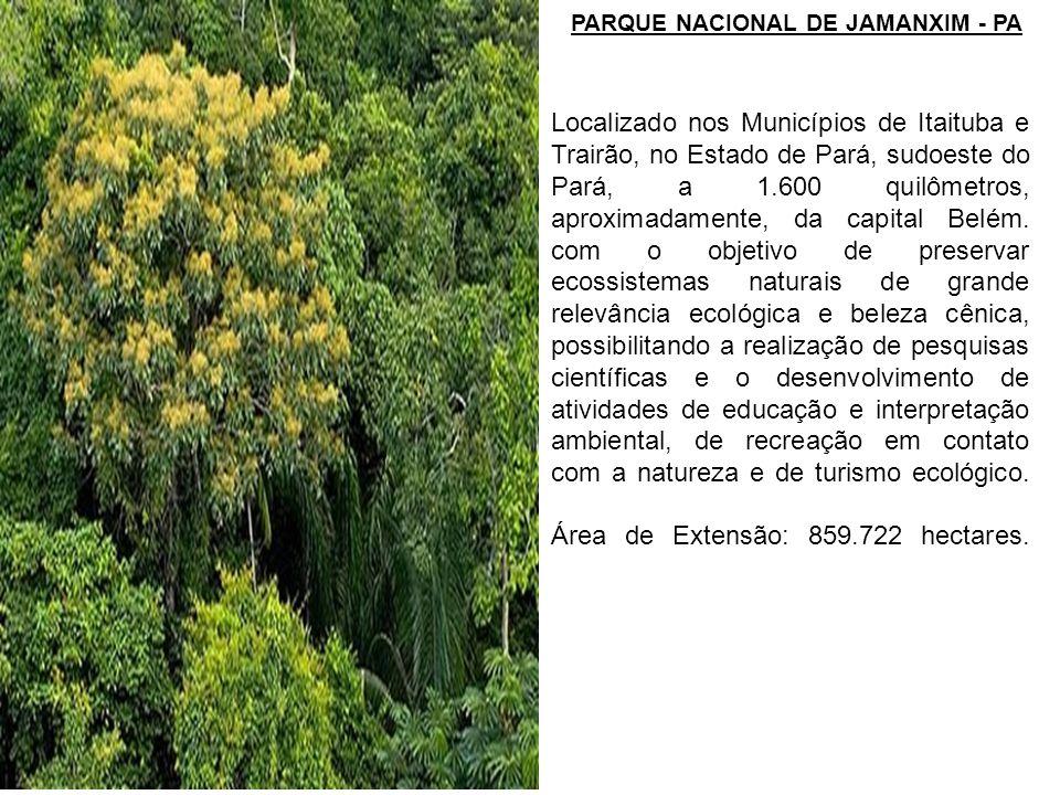 Localizado nos Municípios de Itaituba e Trairão, no Estado de Pará, sudoeste do Pará, a 1.600 quilômetros, aproximadamente, da capital Belém. com o ob