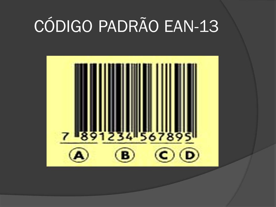CÓDIGO PADRÃO EAN-13