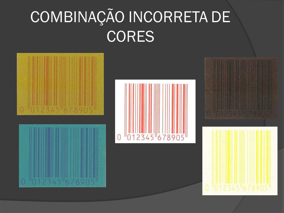 COMBINAÇÃO INCORRETA DE CORES