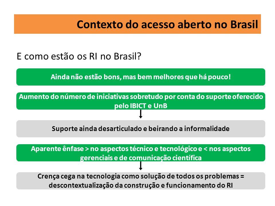 Necessidade de empreender esforços inter- institucionais para a implementação de um conjunto de ações sistemáticas para construção de RI e portais de periódicos científicos de qualidade no âmbito de universidades e instituições de pesquisa brasileiras de modo que seja possível sua integração