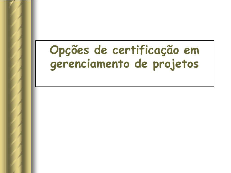 Opções de certificação em gerenciamento de projetos
