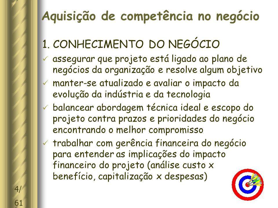 15/ 61 Competência para influir 11.