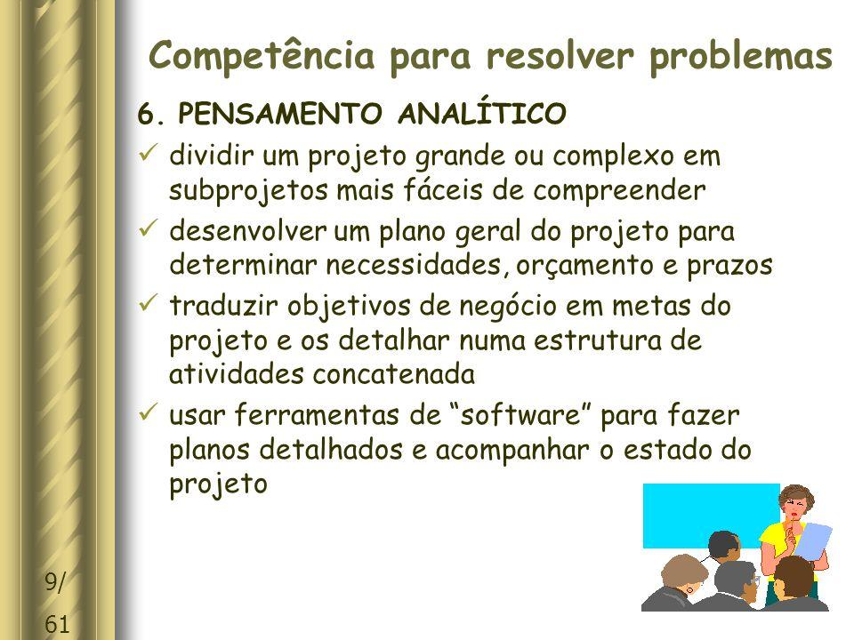 10/ 61 Competência para resolver problemas 6.