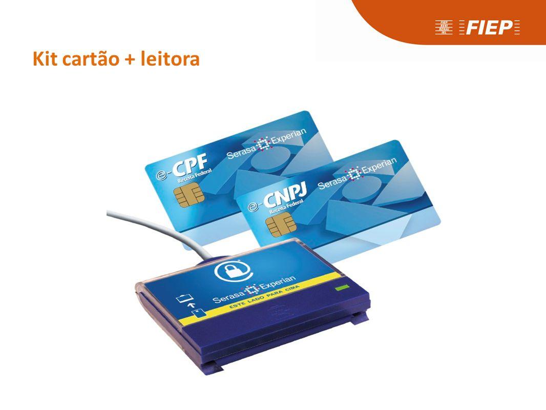 Kit cartão + leitora
