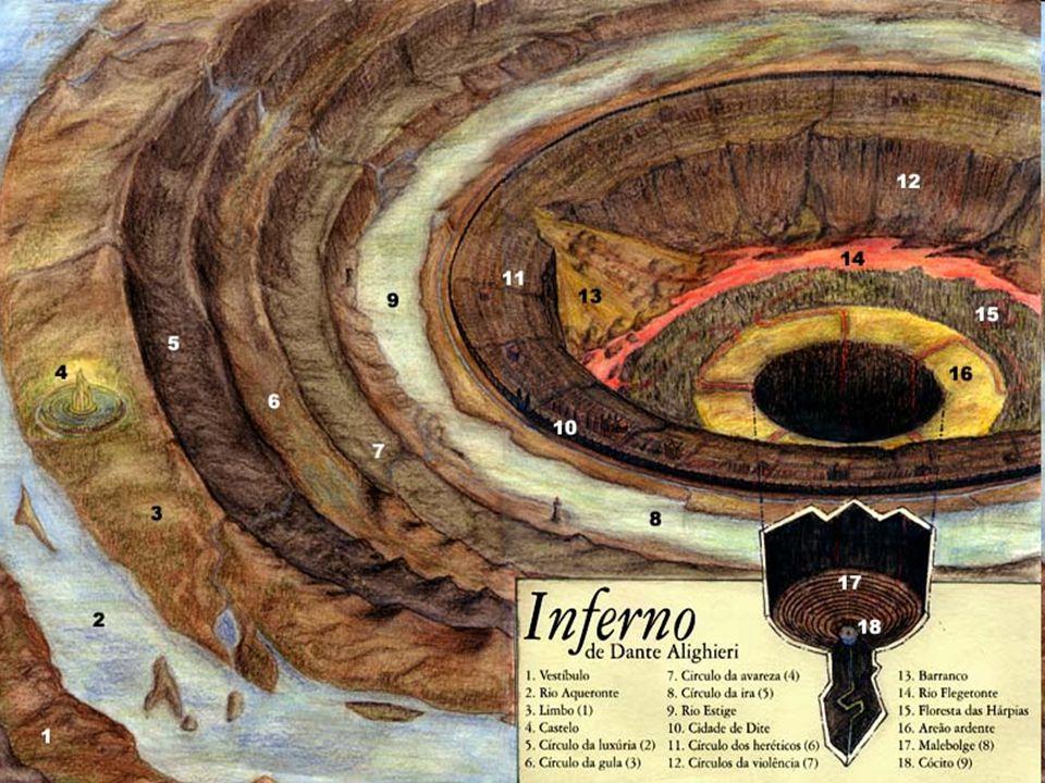 Dante e Virgílio diante da entrada do Inferno (Canto III).
