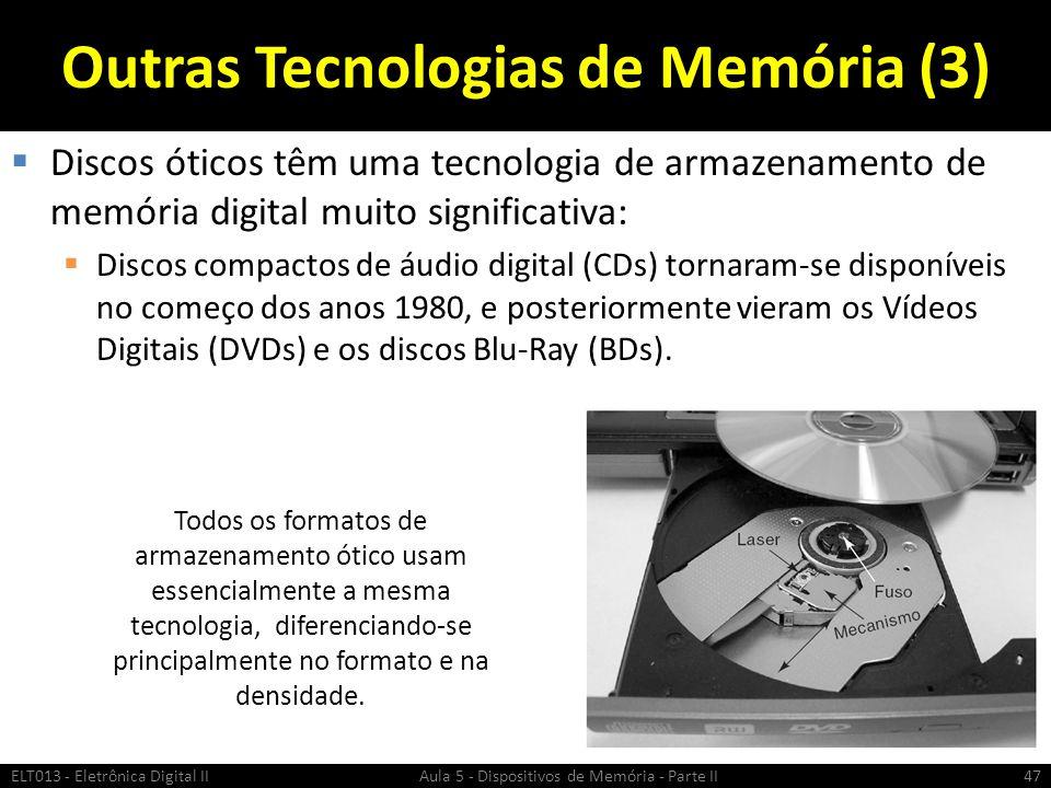 ASSOCIAÇÃO DE MEMÓRIAS ELT013 - Eletrônica Digital II Aula 5 - Dispositivos de Memória - Parte II48