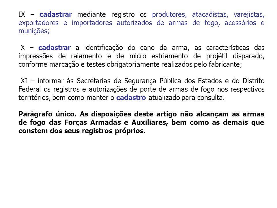 CAPÍTULO II DO REGISTRO Art.3º É obrigatório o registro de arma de fogo no órgão competente.