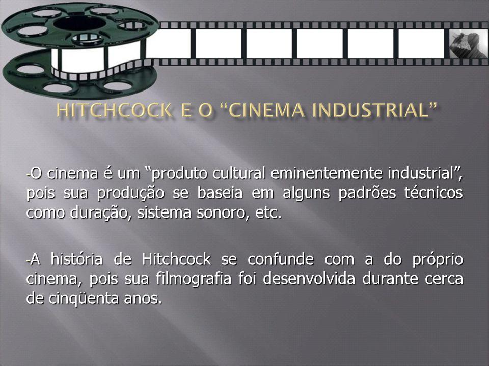 - O cinema é um produto cultural eminentemente industrial , pois sua produção se baseia em alguns padrões técnicos como duração, sistema sonoro, etc.