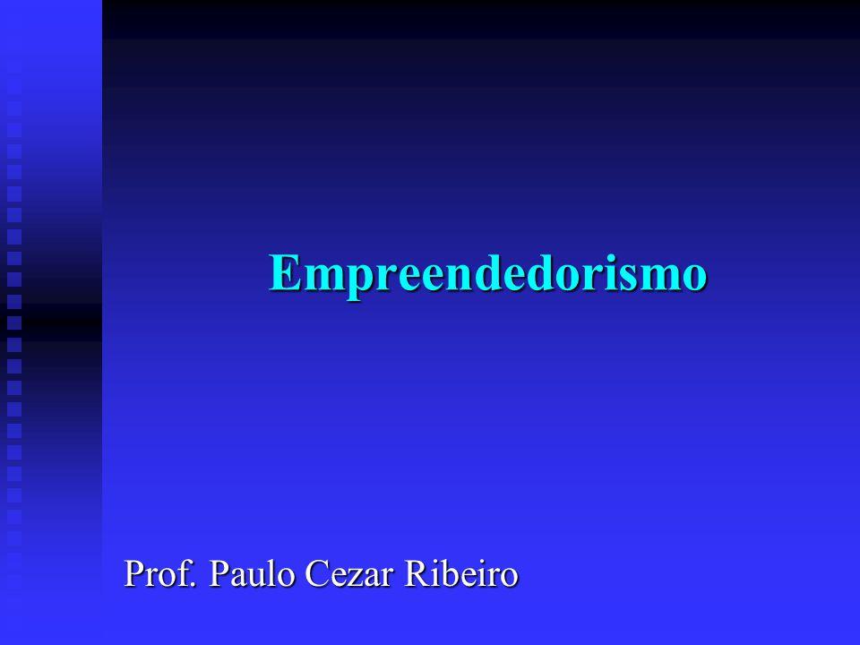 Empreendedorismo Prof. Paulo Cezar Ribeiro
