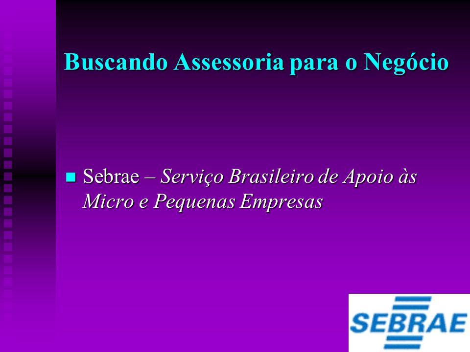 Buscando Assessoria para o Negócio  Sebrae – Serviço Brasileiro de Apoio às Micro e Pequenas Empresas