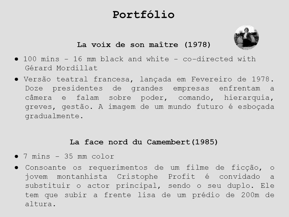 La voix de son maître (1978) ● 100 mins - 16 mm black and white - co-directed with Gérard Mordillat ● Versão teatral francesa, lançada em Fevereiro de
