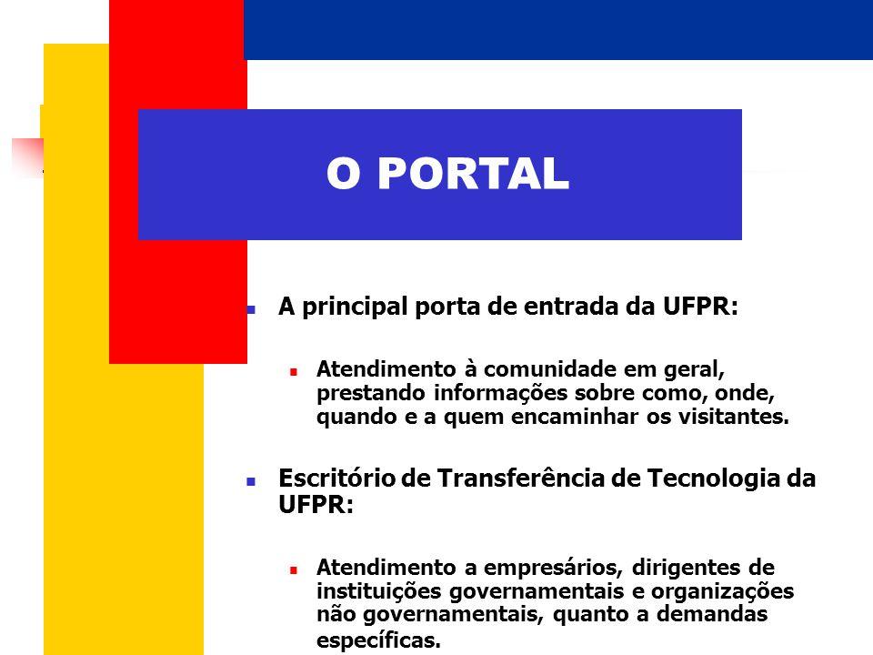  A principal porta de entrada da UFPR:  Atendimento à comunidade em geral, prestando informações sobre como, onde, quando e a quem encaminhar os visitantes.