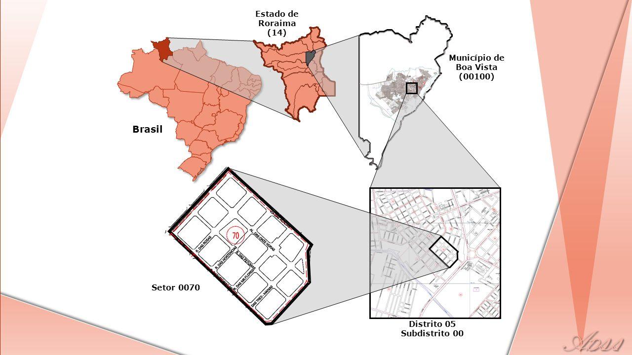 Brasil Estado de Roraima (14) Município de Boa Vista (00100) Distrito 05 Subdistrito 00 Setor 0070