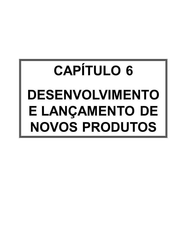 CAPÍTULO 6 DESENVOLVIMENTO E LANÇAMENTO DE NOVOS PRODUTOS