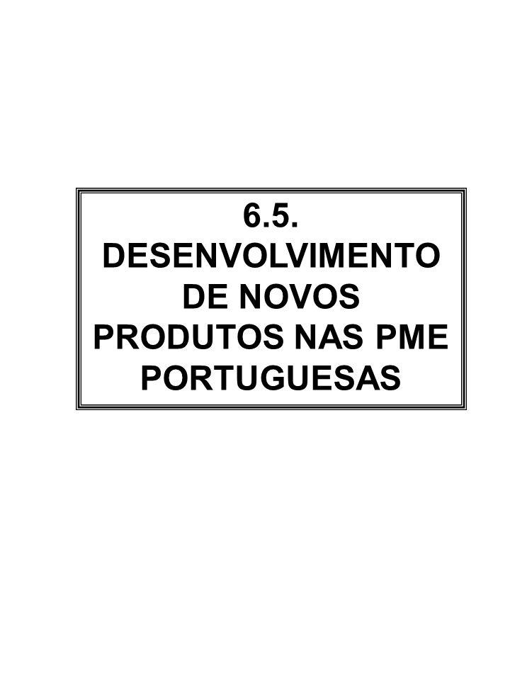 6.5. DESENVOLVIMENTO DE NOVOS PRODUTOS NAS PME PORTUGUESAS