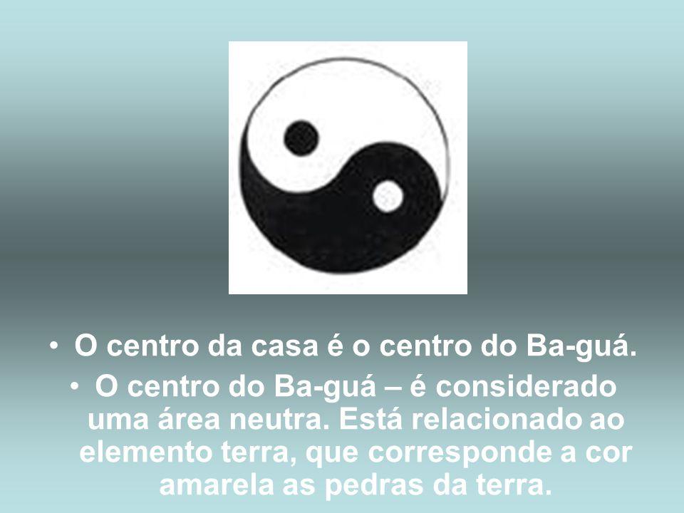 •O centro da casa é o centro do Ba-guá.•O centro do Ba-guá – é considerado uma área neutra.