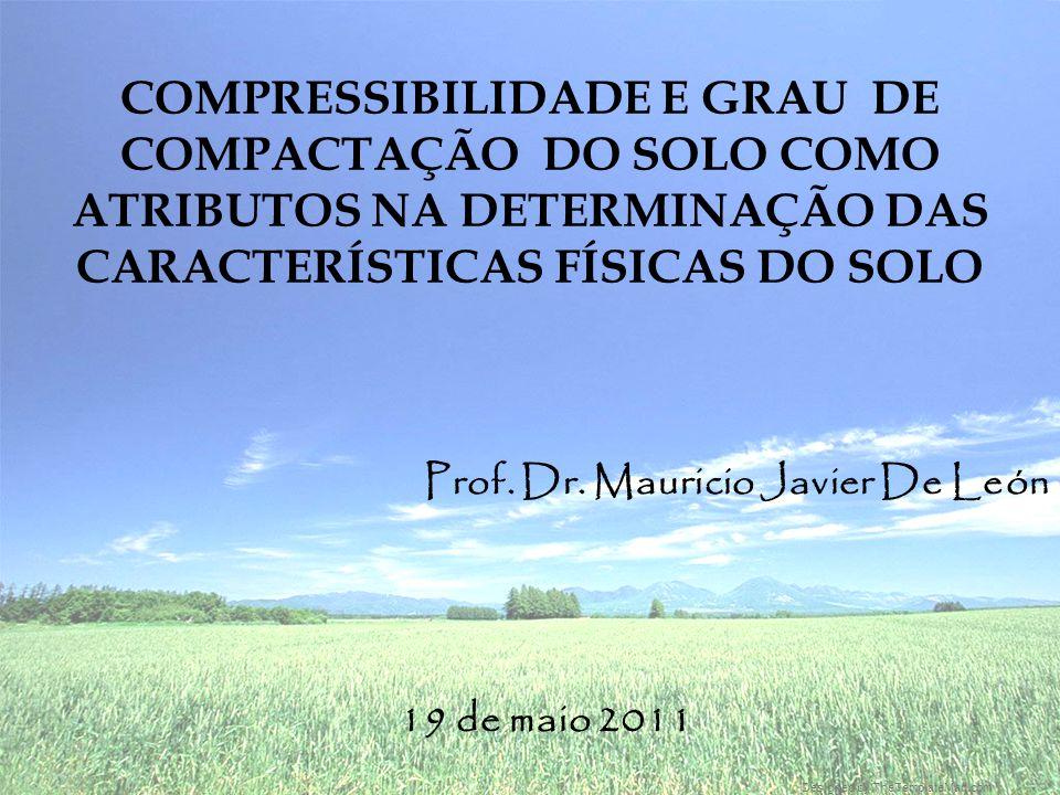 Designed by TheTemplateMart.com COMPRESSIBILIDADE E GRAU DE COMPACTAÇÃO DO SOLO COMO ATRIBUTOS NA DETERMINAÇÃO DAS CARACTERÍSTICAS FÍSICAS DO SOLO Prof.