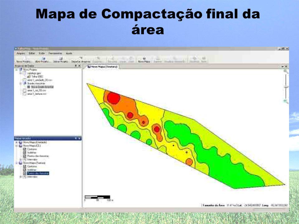 Mapa de Compactação final da área