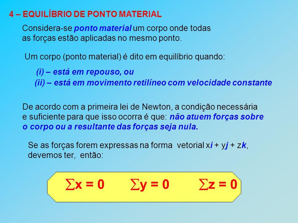 Vejamos alguns exemplos 1 – Calculando trações A figura representa um corpo de peso 100 N, sustentado por um sistema de cordas.