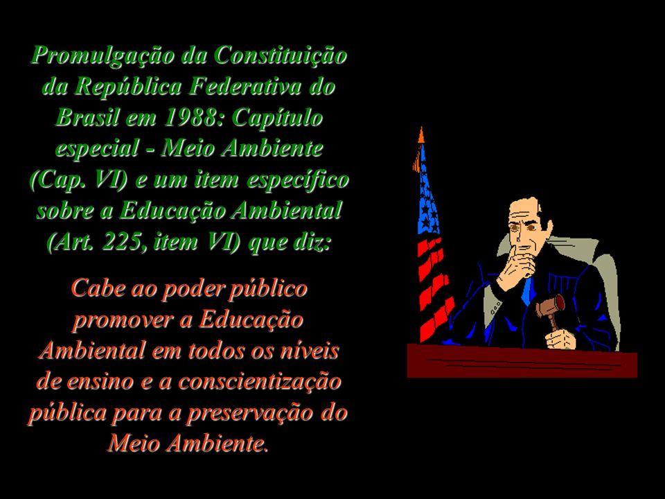Promulgação da Constituição da República Federativa do Brasil em 1988: Capítulo especial - Meio Ambiente (Cap.