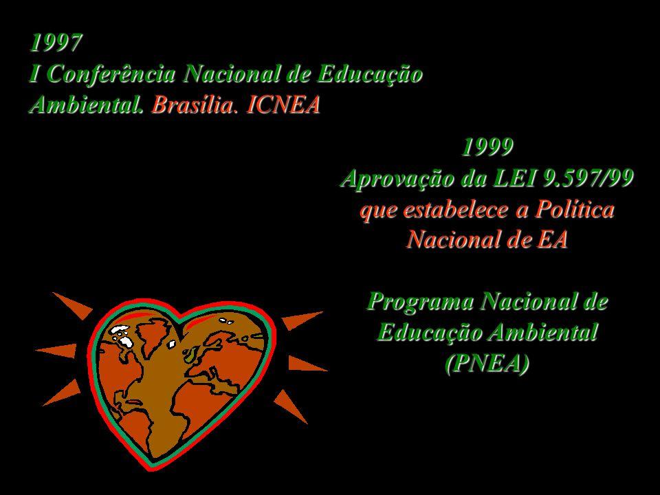 1997 I Conferência Nacional de Educação Ambiental.Brasília.