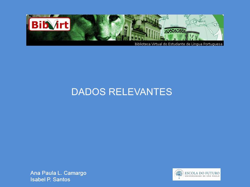 Ana Paula L. Camargo Isabel P. Santos DADOS RELEVANTES