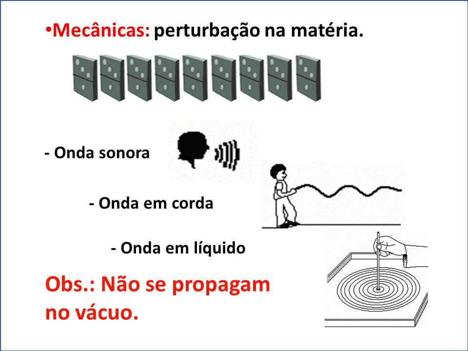 V=λ.f • Velocidade (v=m/s) • Comprimento de onda (λ =m) • Frequência (f=Hz)