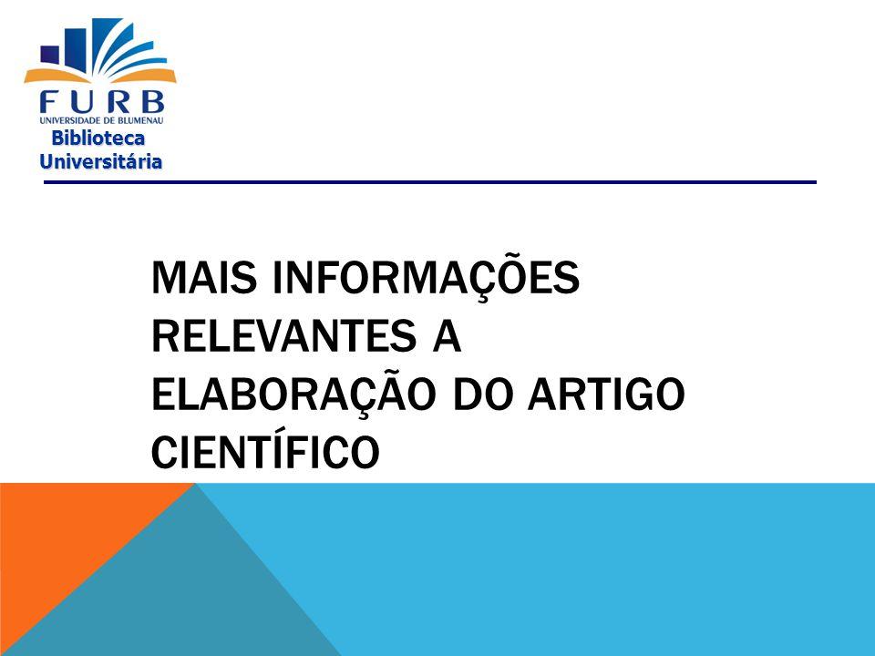 Biblioteca Universitária Universitária MODELO Disponível em: