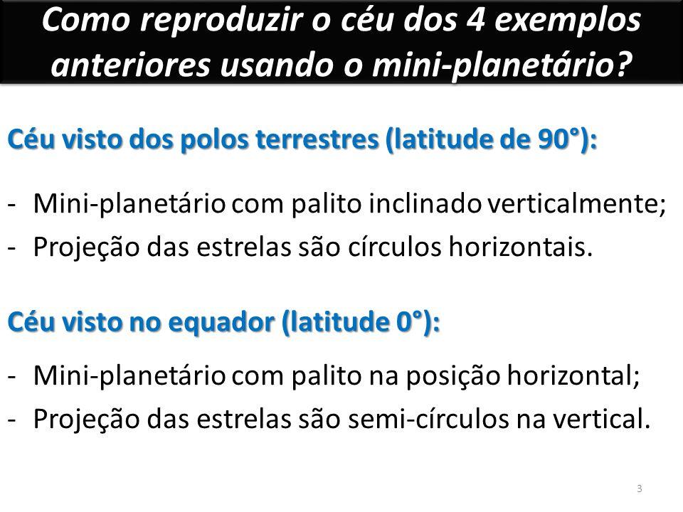 Como reproduzir o céu dos 4 exemplos anteriores usando o mini-planetário.