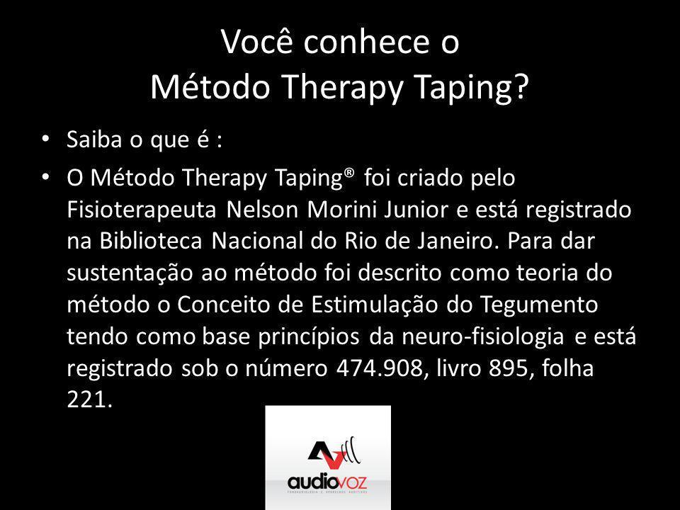 Você conhece o Método Therapy Taping? • Saiba o que é : • O Método Therapy Taping® foi criado pelo Fisioterapeuta Nelson Morini Junior e está registra